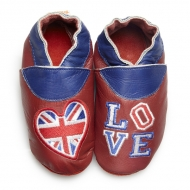 didoodam Soft Leather Baby Shoes - Love London - Size 3-4 (19-20)