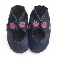 didoodam Soft Leather Baby Shoes - Cherry Blossoms - Size 0.5 - 2.5 (16-18)
