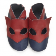didoodam Soft Leather Baby Shoes - Superhero - Size 3-4 (19-20)