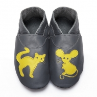 didoodam Soft Leather Baby Shoes - Mistigri - Size 3-4 (19-20)