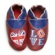 didoodam Soft Leather Baby Shoes - Love London - Size 0.5 - 2.5 (16-18)