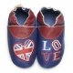 didoodam Soft Leather Baby Shoes - English Blue - Size 3-4 (19-20)