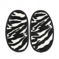 didoodam leren sloffen - Warme Zebra's - Maat 46-47