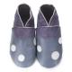 Chausson adulte didoodam  - Bleu de pois - Pointure 38-39