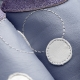 Chausson enfant didoodam - Bleu de pois - Pointure 33-34