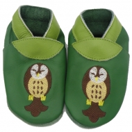 didoodam Soft Leather Baby Shoes - Owl is life - Size 0.5 - 2.5 (16-18)