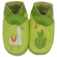 didoodam Soft Leather Baby Shoes - My little Lama - Size 0.5 - 2.5 (16-18)